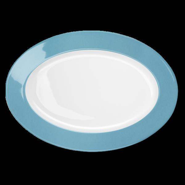 Ovale Platte Malibu Türkis (36cm)