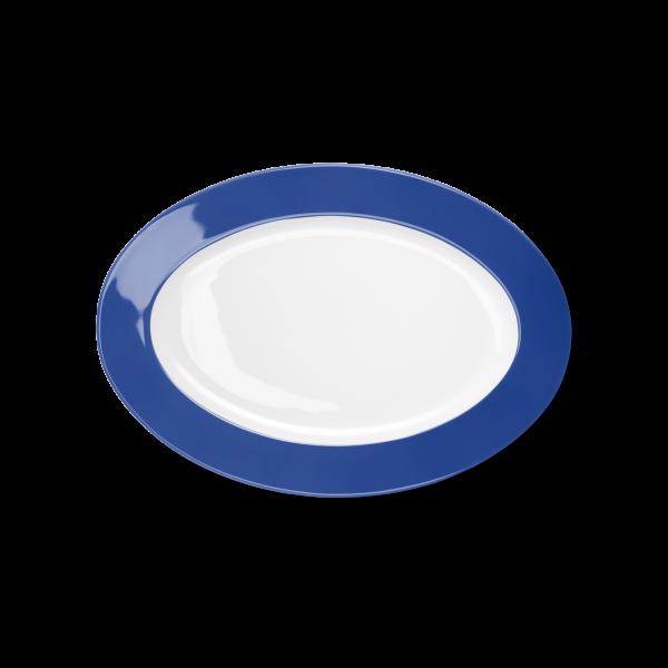 Ovale Platte Kornblume (29cm)