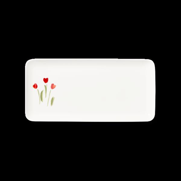 Rechteckige Platte Rot (32cm)
