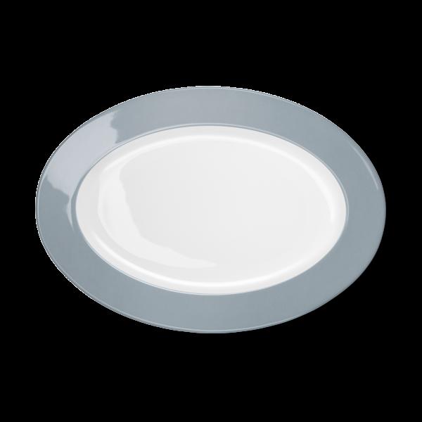 Ovale Platte Grau (33cm)