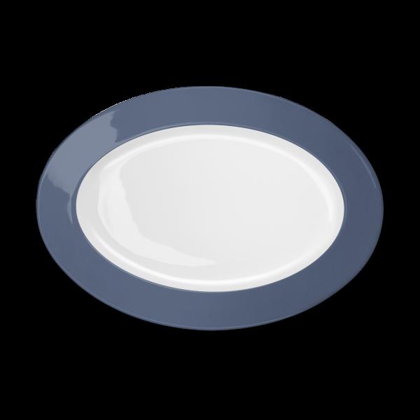 Ovale Platte Indigo (33cm)