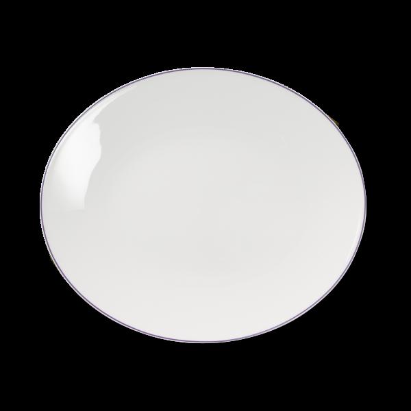 Ovale Platte Flieder (39cm)