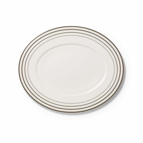 Ovale Platte Anthrazit (34cm)