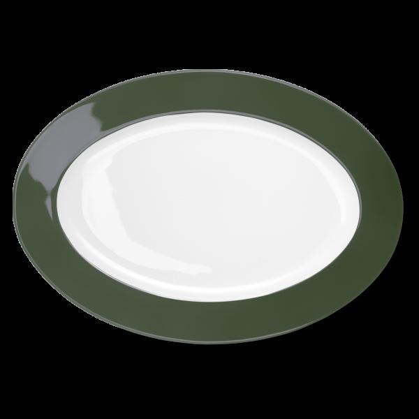 Oval Platter Dark Olive Green (36cm)
