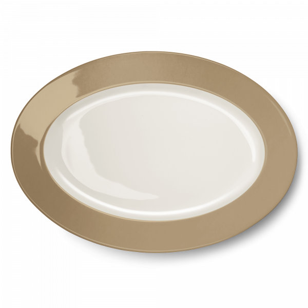 Oval Platter Clay (36cm)