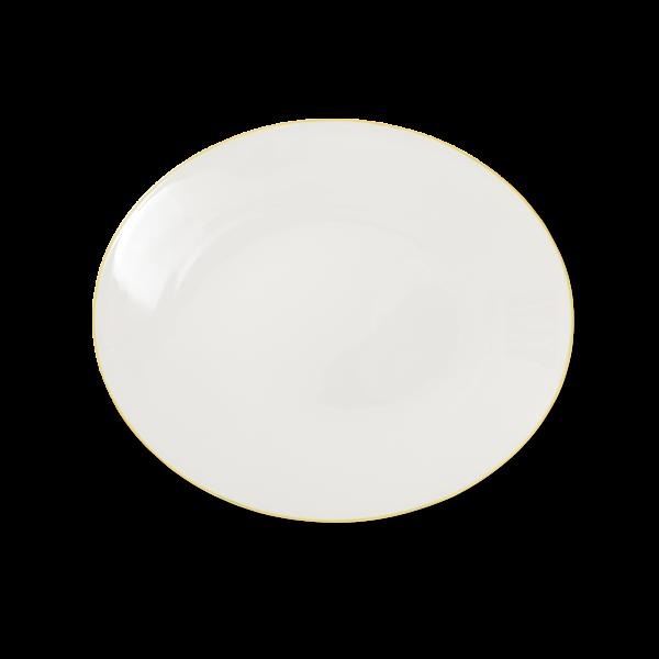 Ovale Platte Gelb (32cm)