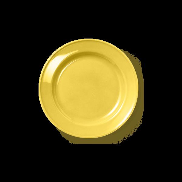 Dessertteller Volldekor Sonnengelb (19cm)