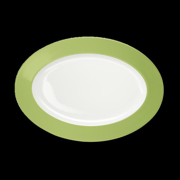 Ovale Platte Maigrün (33cm)