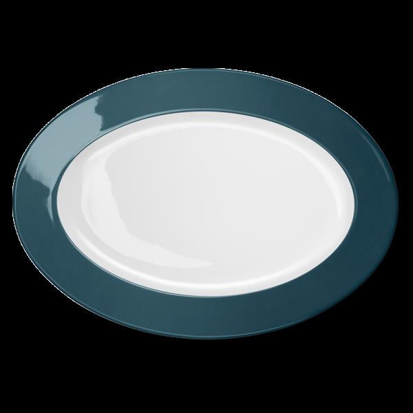 Ovale Platte Petrol (36cm)