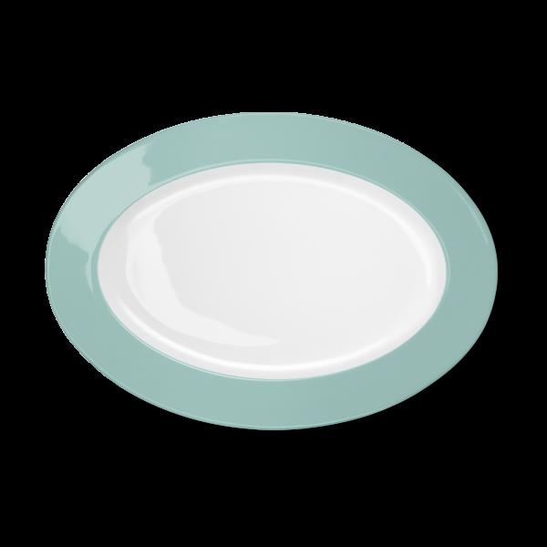 Ovale Platte Türkis (33cm)