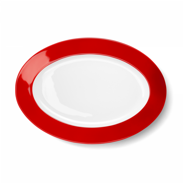 Oval Platter Bright Red (33cm)