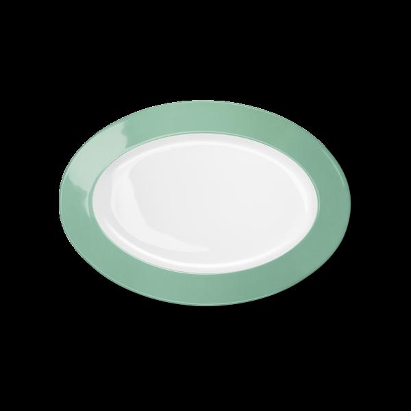 Ovale Platte Smaragd (29cm)