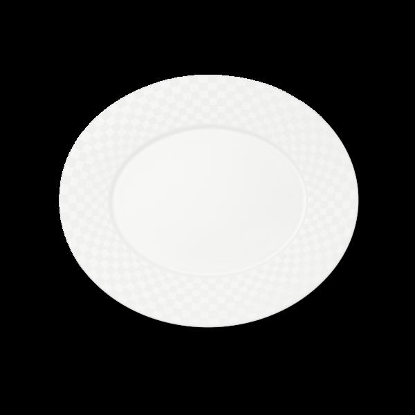 Ovale Platte (Squares) (34cm)