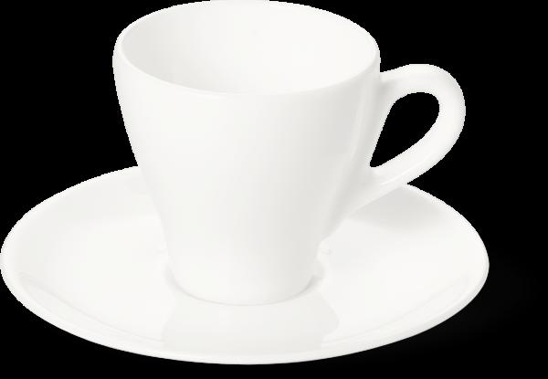 2-tlg. Set Espressotasse classico 0,11l weiss