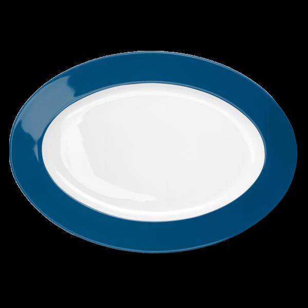 Ovale Platte Pazifikblau (36cm)