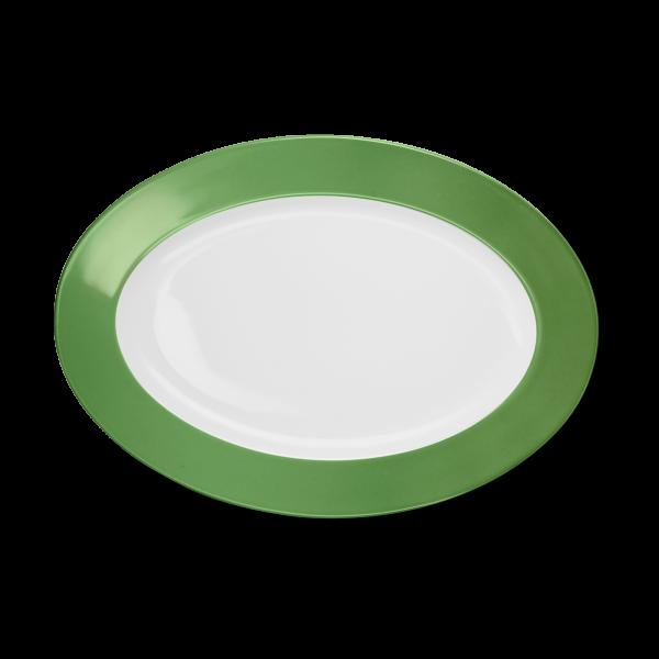 Oval Platter Apple Green (33cm)