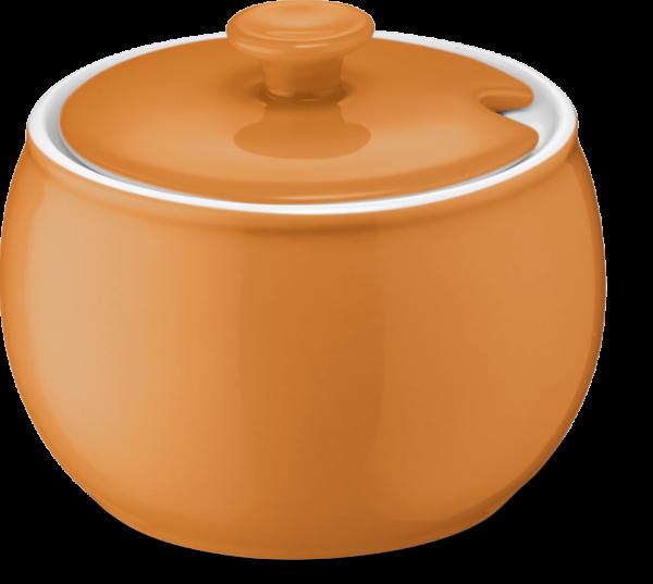 Deckel Zuckerdose orange