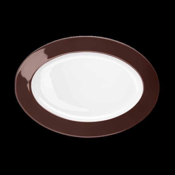 Ovale Platte Kaffeebraun (33cm)