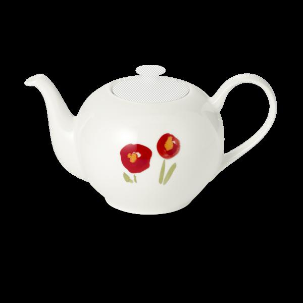 Teekanne unterteil 0,90 l mohn rot