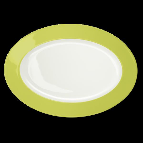 Oval Platter Lime (36cm)
