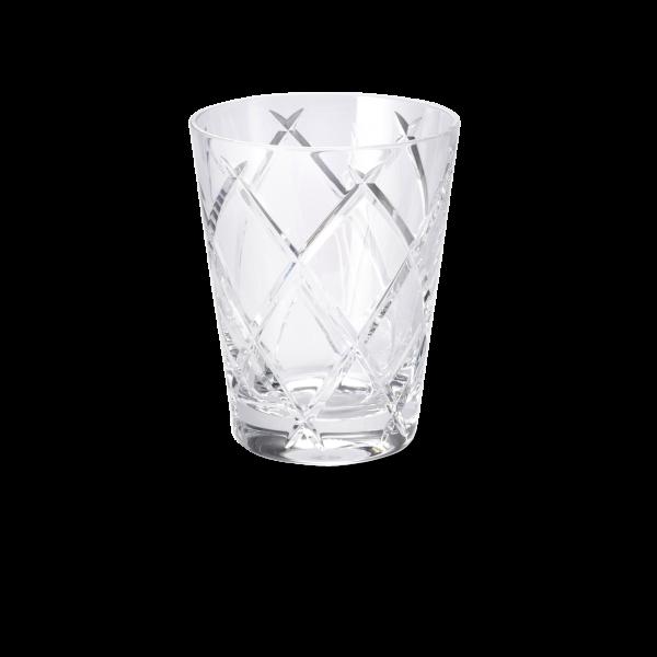 Glas 0,33 l klar cross