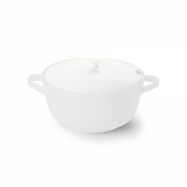 Lid of vegetable dish 2 l white