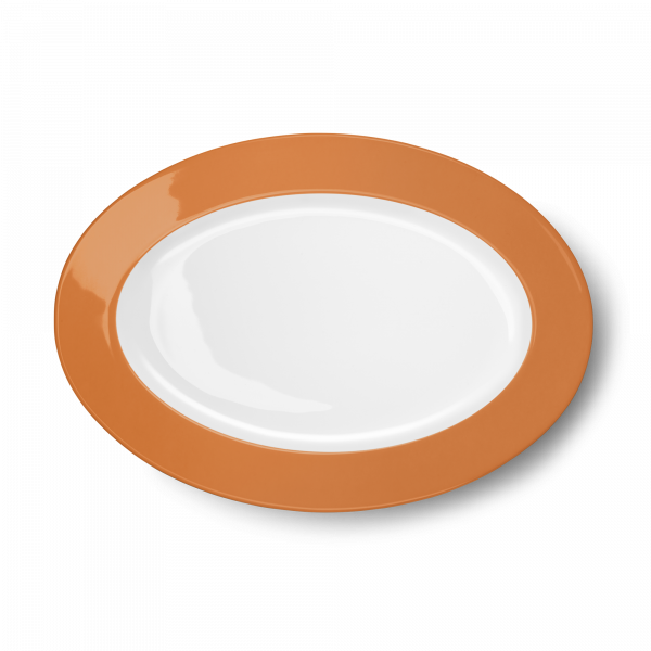 Oval Platter Orange (33cm)