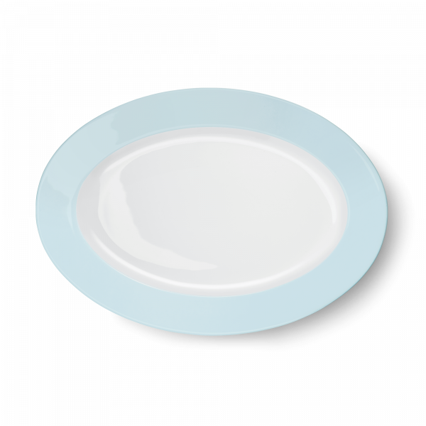 Ovale Platte Eisblau (33cm)