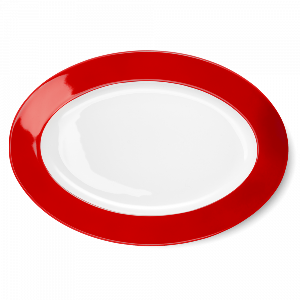 Oval Platter Bright Red (36cm)
