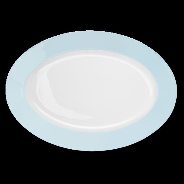 Oval Platter Ice Blue (36cm)