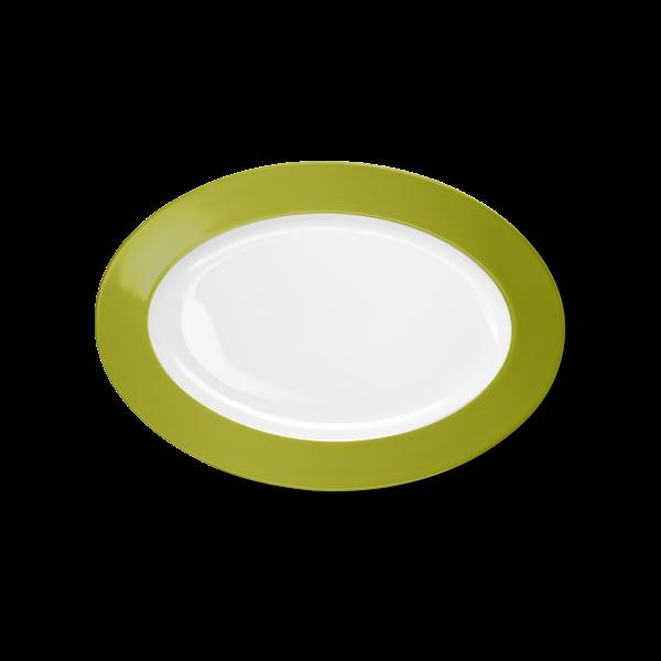 Oval Platter Olive Green (29cm)