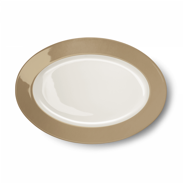 Ovale Platte Clay (33cm)