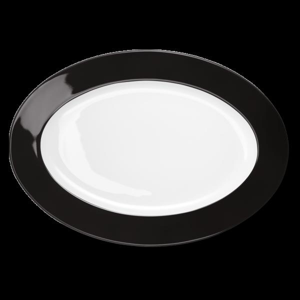 Oval Platter Black (36cm)