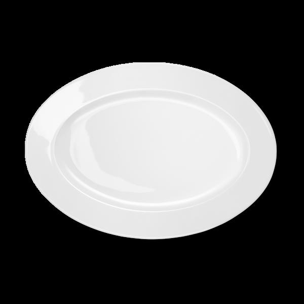 Ovale Platte Weiß (33cm)