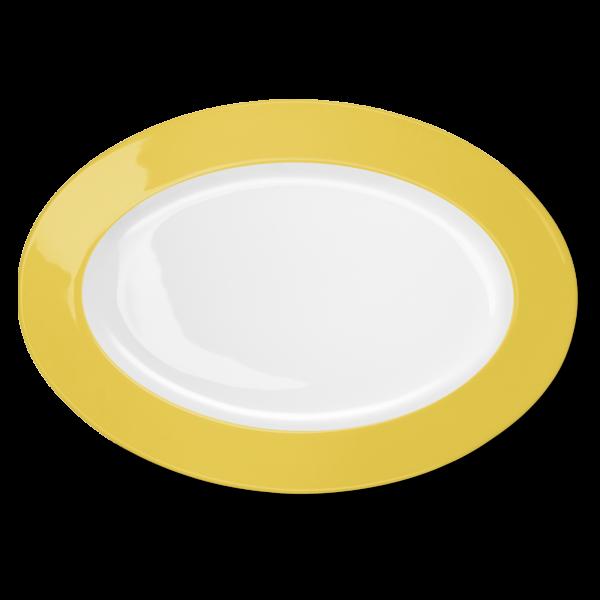 Oval Platter Yellow (36cm)
