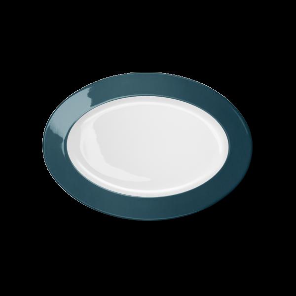 Ovale Platte Petrol (29cm)