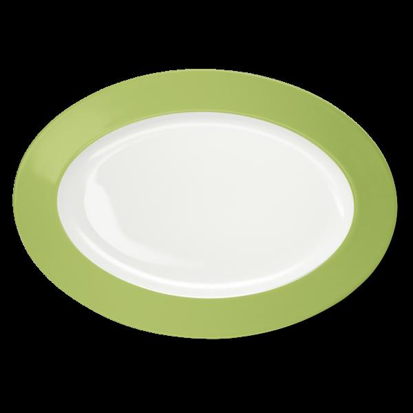 Oval Platter Spring Green (36cm)