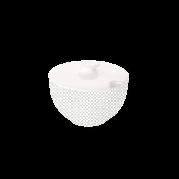 Lid of sugar bowl round white