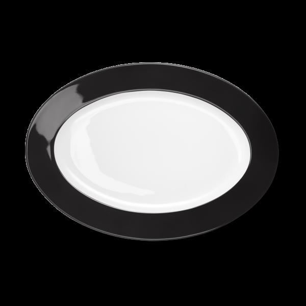 Ovale Platte Schwarz (33cm)