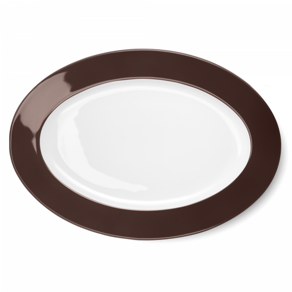 Ovale Platte Kaffeebraun (36cm)
