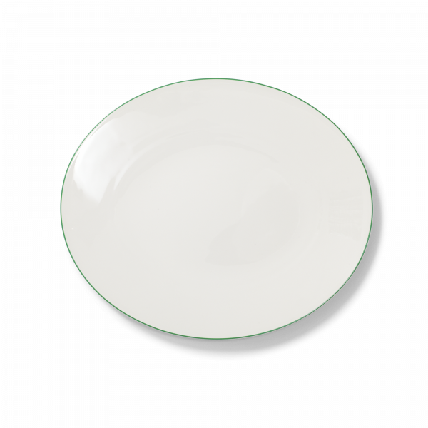 Ovale Platte Grün (32cm)