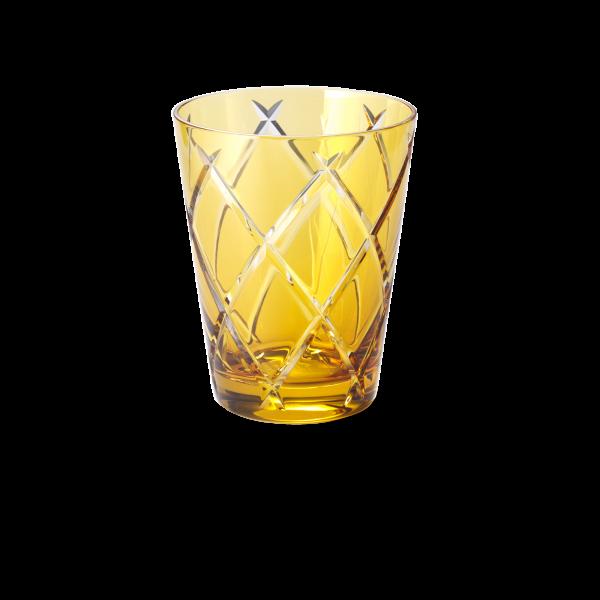 Glas 0,33 l goldamber cross