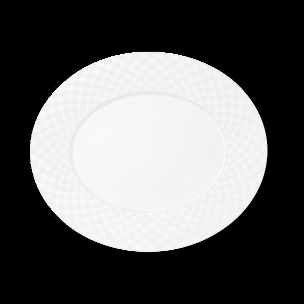 Ovale Platte (Squares) (39cm)