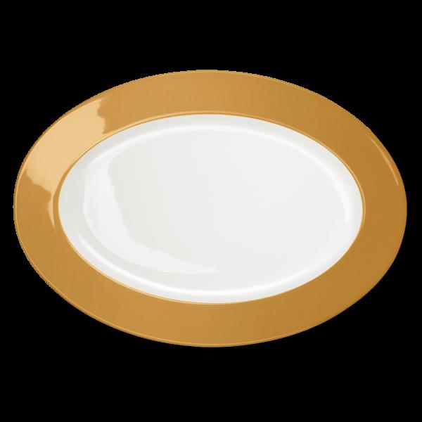 Ovale Platte Bernstein (36cm)