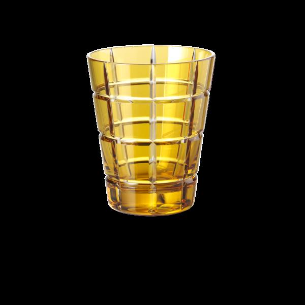 Glas 0,33 l goldamber squares