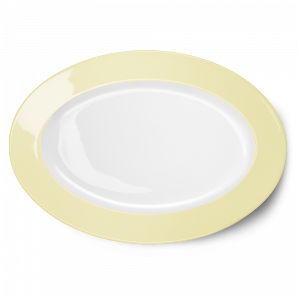 Ovale Platte Vanille (36cm)