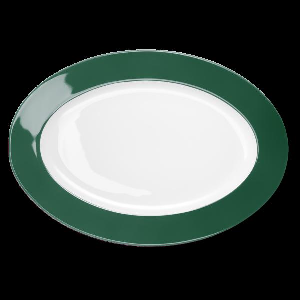 Ovale Platte Tannengrün (36cm)