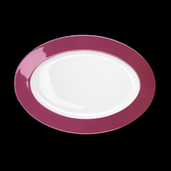 Ovale Platte Himbeere (33cm)