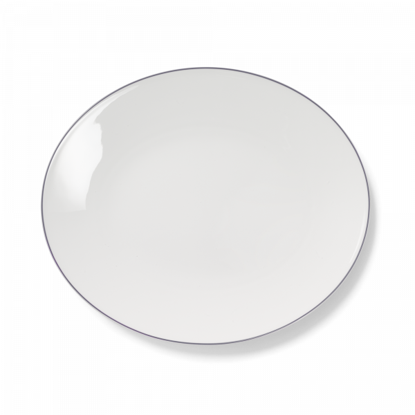 Ovale Platte Grau (39cm)