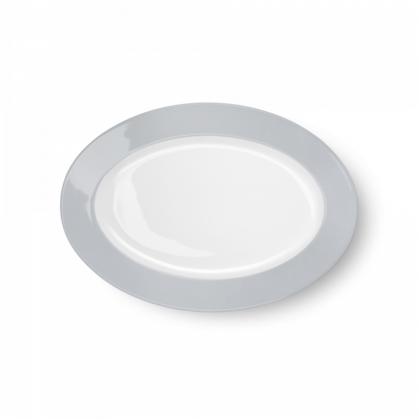Oval Platter Light Grey (29cm)